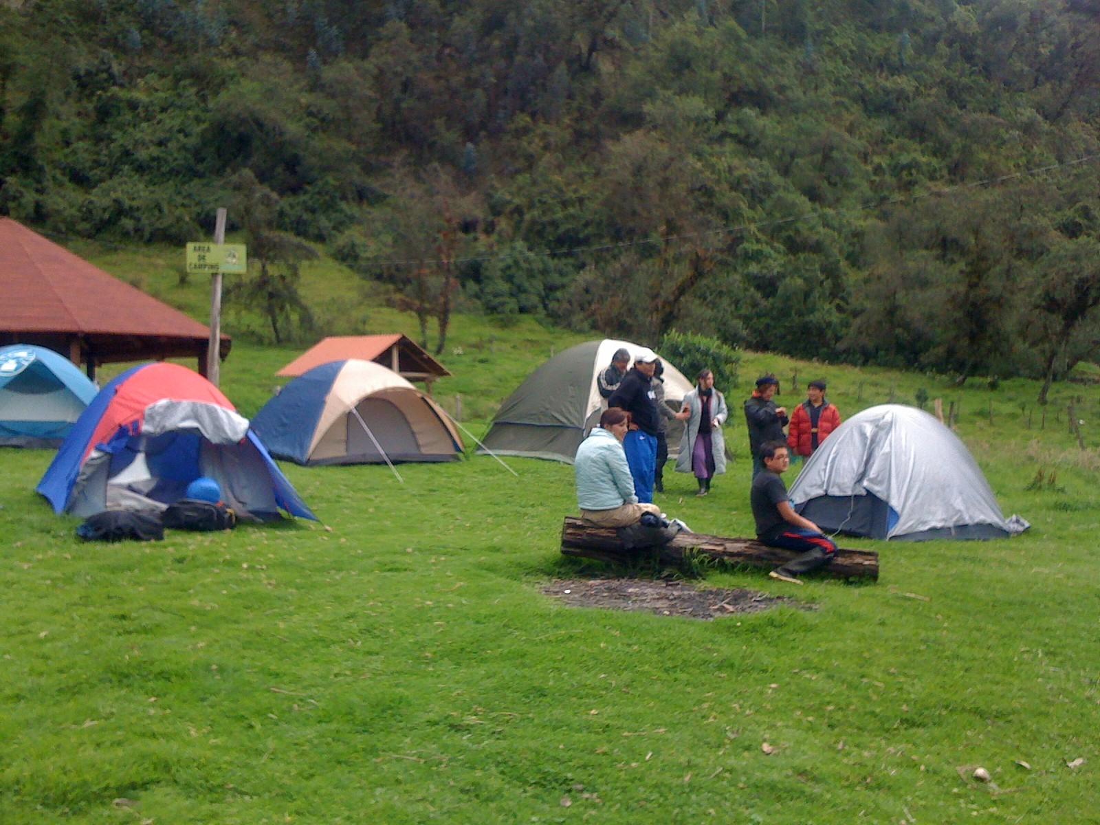 acampar de niño